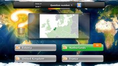 "Geography Quiz Game // Geography exam will never bother you again! Get ""Geography Quiz"" app and upgrade your knowledge on country flags and capital cities around the world! Link countries with their capital city! Recognize the country by the shape of its borders! Identify flag design, select official language and historic sites of a country! Geography Quiz, Windows 8, Game App, Flag Design, Capital City, Historical Sites, Social Studies, Flags, Countries"