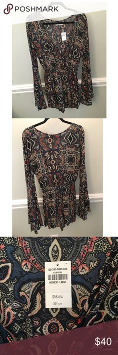 Abercrombie & Fitch bell sleeve romper NWT Brand new Abercrombie & Fitch romper Abercrombie & Fitch Other