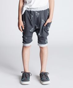 Loving this Dodo Graphite Scribble Banded Shorts - Kids on #zulily! #zulilyfinds