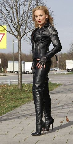 High Leather Boots, Black Leather Pants, Leather Trousers, Celebrity Boots, Sexy Outfits, Fashion Outfits, Jumpsuit Dressy, Thigh High Boots Heels, Fetish Fashion