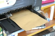 How to print on paper bags. DIY crafts for Printables