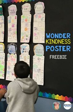 Wonder freebie - Wonder Kindness Poster to promote kindness in your classroom with your students.