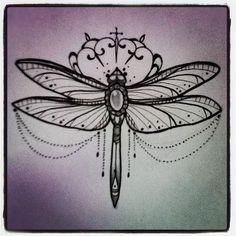 "Don't Tell Mama Tattoo Studio: Miss Juliet's latest work. ""bejeweled dragonfly"":"