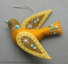 Snow Bird felt ornament | Flickr - Photo Sharing!