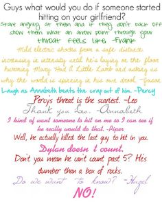 Annabeth will show no mercy. Percy Jackson Memes, Percy Jackson Books, Percy Jackson Fandom, Percy And Annabeth, Annabeth Chase, Leo Valdez, Tio Rick, Uncle Rick, Magnus Chase