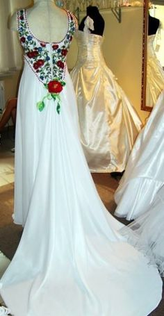 Wedding embroidered dress, Ukraine, from Iryna with love