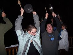 Bang pots and pans as loud as you can.   The Weirdest New Year's Eve Traditions From Around The World