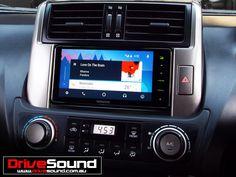 Toyota 150 Prado with Android Auto installed by DriveSound. Android Auto, Ford Falcon, Prado, Car Audio, User Interface, Brisbane, Toyota