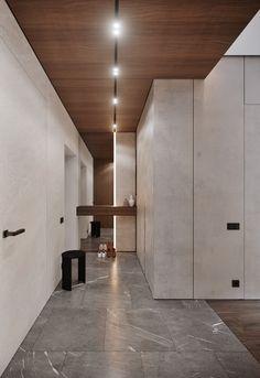 Modern & minimalistic hall in our new project Viz Year 20 Design Hall, Foyer Design, Lobby Design, Home Room Design, Ceiling Design, Wall Design, Home Interior Design, Interior Decorating, House Design