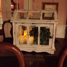 Flameless candles work anywhere! Get creative with Candle Impressions flameless candles this holiday season. Flameless Candles, Diy Candles, Shabby Home, Let Your Light Shine, Lanterns, Holiday, Christmas, Centerpieces, Birdcages