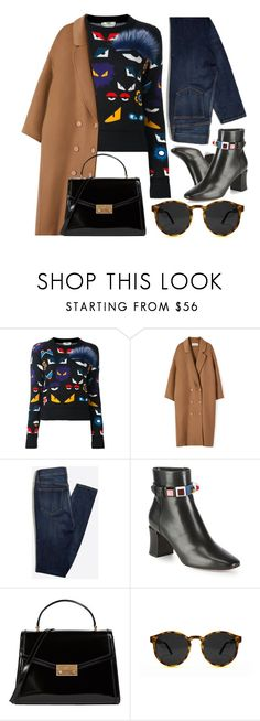 """Sweater Time"" by smartbuyglasses ❤ liked on Polyvore featuring Fendi, Tory Burch, Spitfire, black and brown"