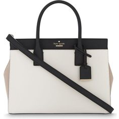Kate Spade New York Cameron Street Candace leather satchel (4.912.360 IDR) ❤ liked on Polyvore featuring bags, handbags, bolsa, leather handbags, white leather satchel, white leather purse, white leather handbags and satchel handbags