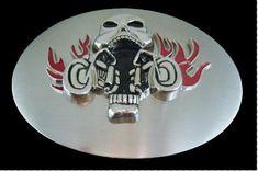 SKULL SKELETON BIKER WHEELS FLAMES BELT BUCKLE BOUCLE DE CEINTURE BELTS   Coolbuckles  skull   e963c9e6ec5