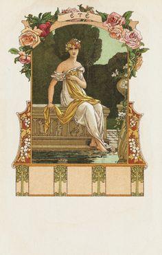 ¤ Summer Calendar by ELIZABETH SONREL. // Calendrier page été par Elisabeth Sonrel