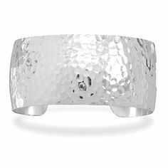 Sterling Silver 1.25 Inch Hammered Cuff Bracelet Forza Jewelry. $118.99