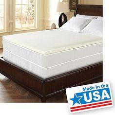 "Dream Serenity Memory Foam 1.5"" Comfort Topper, Multiple Sizes - Walmart.com"