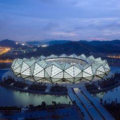 Shenzhen Universiade Sports Center Outdoor Lighting by Helmut Angerer and Jan Nielsen - via Dezeen