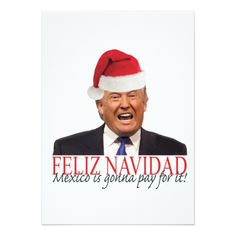 Feliz Navidad, Mexico is gonna pay for it! Holiday Postcard created by dumptrumpnow. Holiday Postcards, Holiday Cards, Christmas Cards, Pallet Dog Beds, Trump Christmas, Online Greeting Cards, Mexico, Putin Trump, Absolutely Disgusting