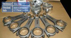 BMW E30 M20B27 2.7 Pleuel Conrods - Forged 4340 EN24 Chrome Moly Steel Conrods with ARP 2000 Bolts - Fits: BMW 325e M20 E30 M20B27 2.7L