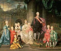 Leopold I, Grand-duke of Tuscany (1747-92) (later Leopold II, Emperor of Austria, 1790-92) with his wife Maria Ludovica and their children including Franz (later Emperor Franz II), 1776  45:Leopold II of Austria (1747-92): with his wife  Maria Ludovica and their children, 1776