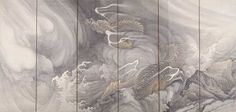 雲龍図屏風(うんりゅうずびょうぶ) 円山応挙(まるやまおうきょ)