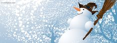 Snow Man Facebook Cover CoverLayout.com