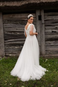 Folk Wedding Dresses- Your Perfect Modern Vintage by Daalarna, Tradition meets modernity, and old meets new in the FOLK bridal collection. Boho Bride, Boho Wedding, Wedding Bride, Elegant Bride, Beautiful Bride, White Wedding Dresses, Bridal Dresses, Wedding Styles, Hollywood
