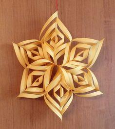 Gwiazda 3D #rękodzieło #gwiazda #3D #ozdoba #dekoracja #choinka 3 D
