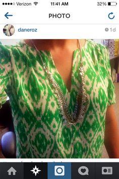 Love this @Stitch Fix green ikat blouse!
