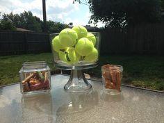 Dog birthday party table decor