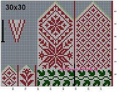 Crochet Mittens Free Pattern, Knit Mittens, Knitted Gloves, Knitting Socks, Knitting Charts, Knitting Stitches, Knitting Patterns Free, Cross Stitch Flowers, Cross Stitch Patterns