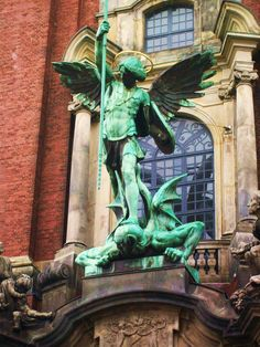 St. Michaelis Church, Hamburg, Germany. I took this picture when I was 17. Such an amazing experience.