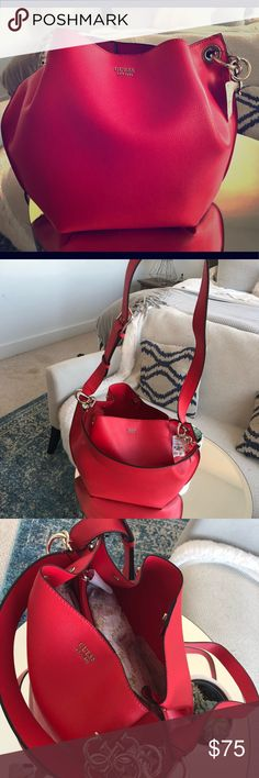 GUESS Red Hobo Purse w/ tags Brand new beautiful red GUESS hobo purse never been used. Tags on! Guess Bags Hobos