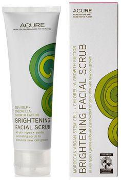 (Exfolikate dupe) Acure Organics Brightening Facial Scrub Sea Kelp plus Chlorella Growth Factor -- 2 oz