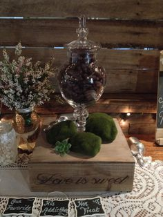 Love is sweet box by Well Planned Weddings and Events