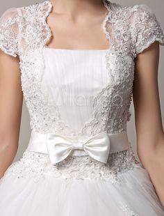 ecaf5b1173 Vestido de casamento curto manga princesa de renda com saia de tule em  camadas