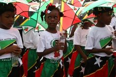 Childrens parade St Kitts and St Nevis