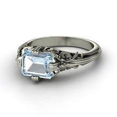 Aquamarine Ring - love the stone turned sideways