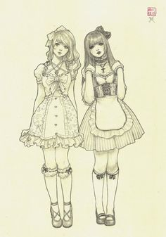 Arist: Jasmin Darnell #art #lolita #girl #pencil (sprite and Finn)