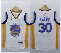 Golden State Warriors #30 Stephen Curry White New Champions