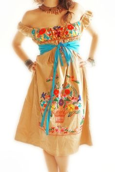 I have one of these mexican dresses.  Need to make it fab!