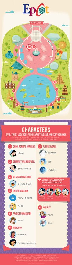 This guide is ready to lead you to some of your favorite Characters at Epcot®!