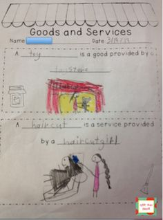 Goods and services-first grade social studies economics unit
