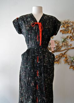 40s Dress / 1940s Dress / Vintage Late 1940s by xtabayvintage, $198.00