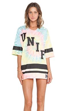 UNIF Don't Play Tee in Tie Dye
