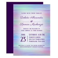 Whimsical Wedding Colorful Pastel Romantic Rainbow Card - romantic gifts ideas love beautiful