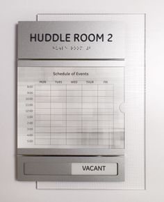 Fusion ADA Interior Room ID Sign with Schedule of Events Updateable Insert. #signage