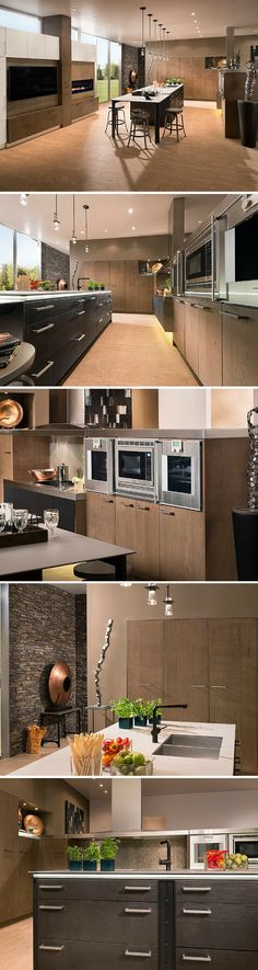 Modern, spacious kitchen by Wood-Mode http://www.CabinetsAndDesigns.net/Products/Wood-Mode/