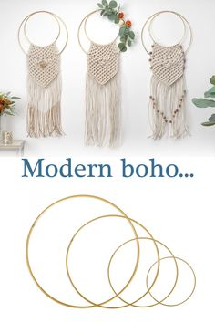 Macramé chic is becoming the latest boho trend so why not embrace the look without the high cost & try your hand at DIY macramé. Take a look at our collection of metal hoops, perfect for your new maramé hobby. Make Your Own Wreath, How To Make Wreaths, Boho Trends, Wreath Forms, Adult Crafts, Modern Boho, Craft Ideas, Chic, Metal