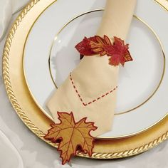 Autumn Leaf Napkin Ring - Free Baby Lock Projects